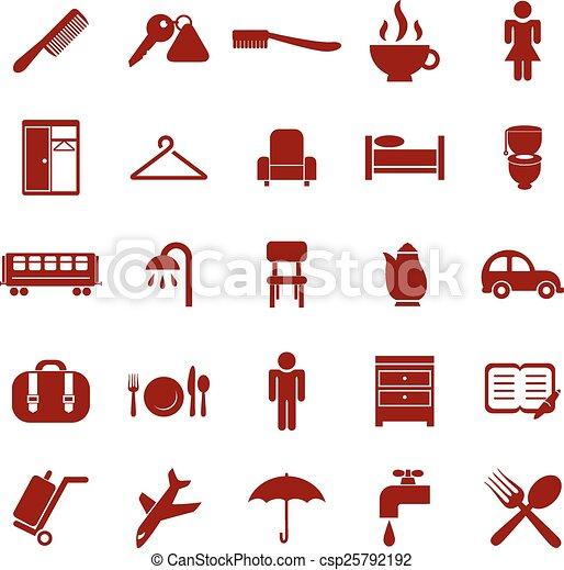 Hotel icons - csp25792192