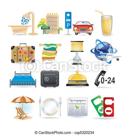 Hotel icons  - csp5320234