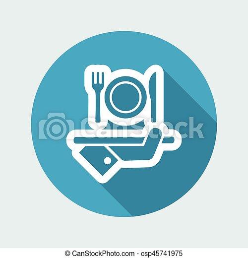 Hotel icons. Food. - csp45741975