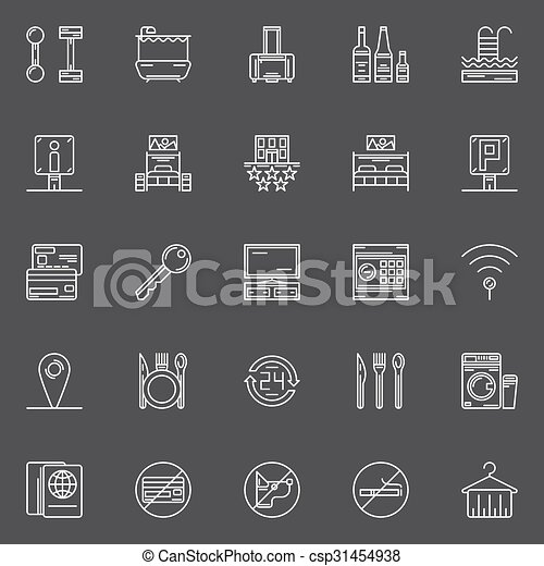 Hotel icons set - csp31454938