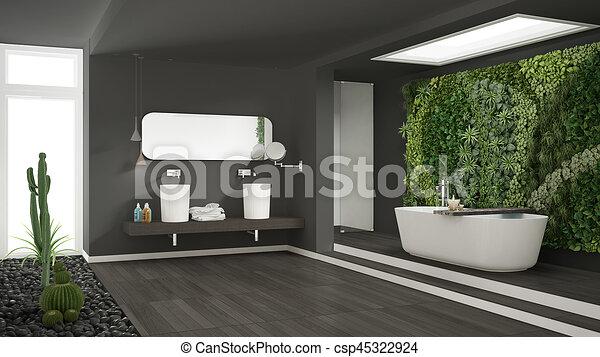 Spa Badkamer Ontwerp : Hotel minimalist badkamer spa verticaal grijs houten