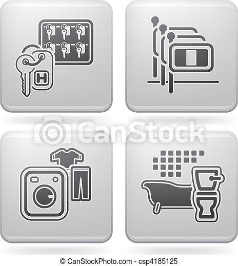 Iconos relacionados con el hotel - csp4185125