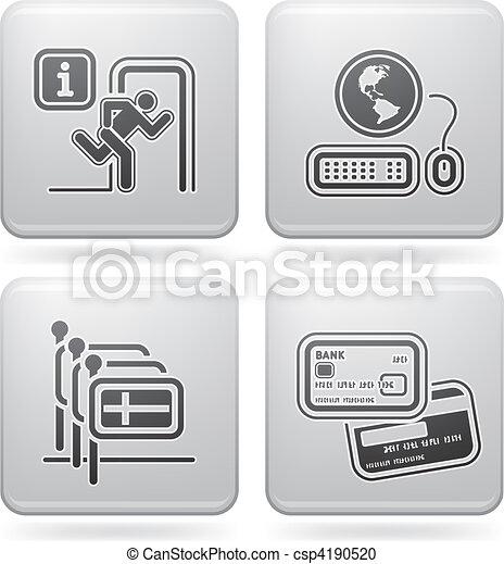 Iconos relacionados con el hotel - csp4190520