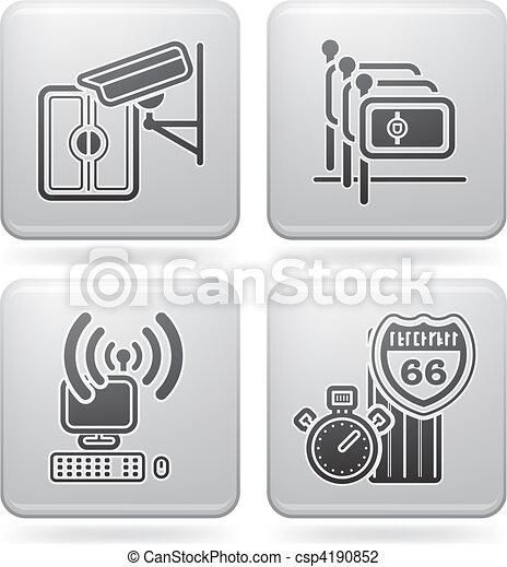 Iconos relacionados con el hotel - csp4190852