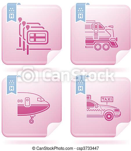 Los iconos del hotel están relacionados - csp3733447