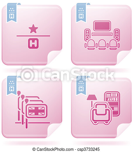 Hotel Related Icons - csp3733245