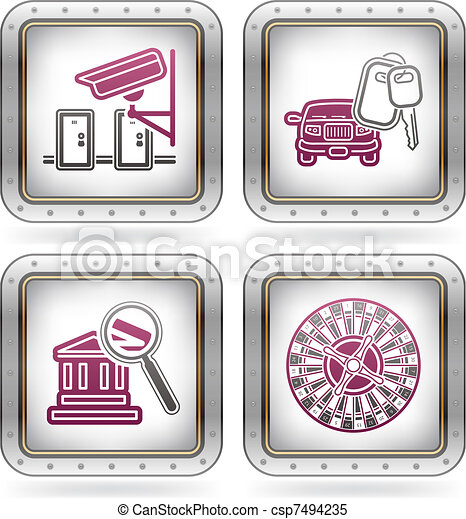 Hotel Related Icons - csp7494235