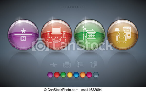 Hotel Related Icons - csp14632094