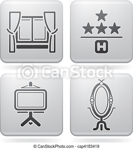 Hotel Related Icons - csp4183419