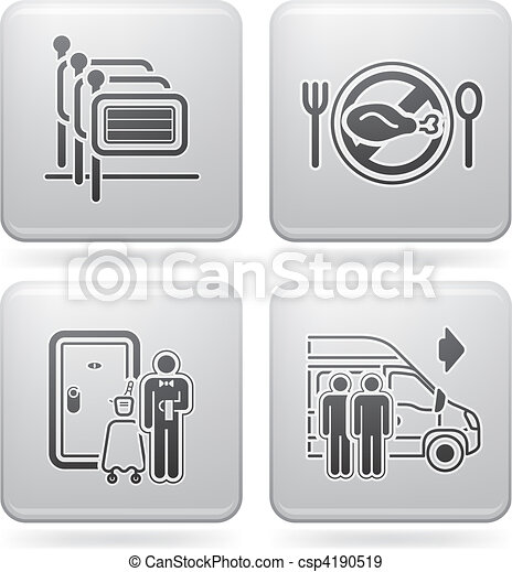 Hotel Related Icons - csp4190519