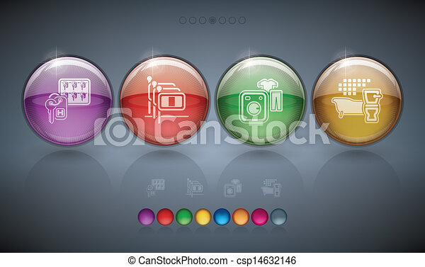 Hotel Related Icons - csp14632146