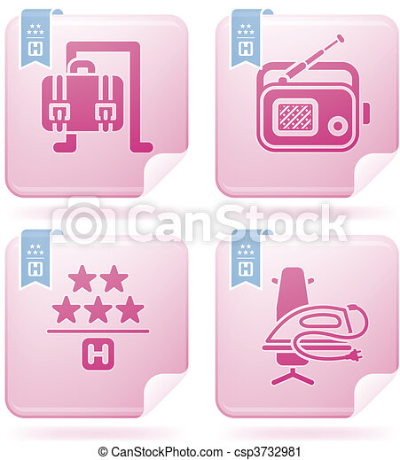 Hotel Related Icons - csp3732981
