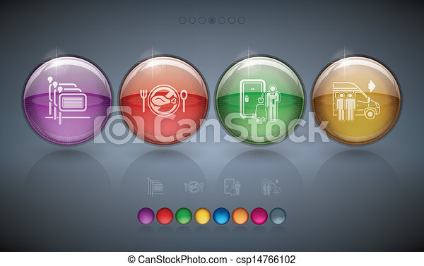 Hotel Related Icons - csp14766102