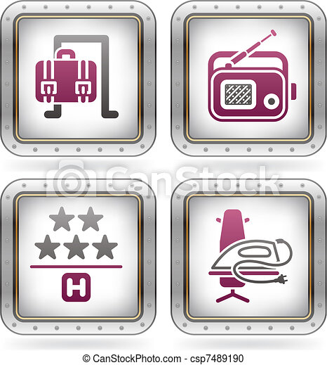 Hotel Related Icons - csp7489190