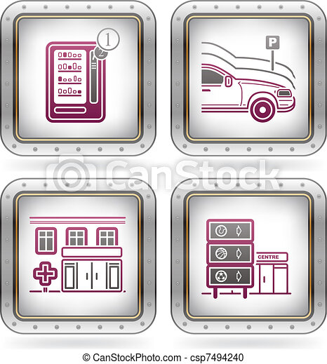 Hotel Related Icons - csp7494240