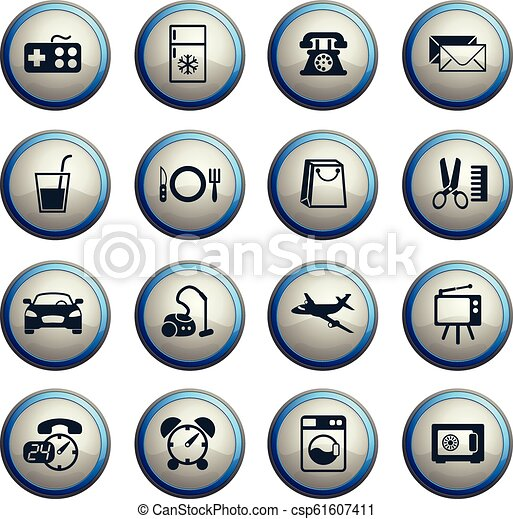 Hotel Room Service Icon Set Hotel Room Service Vector Icons For Web And User Interface Design