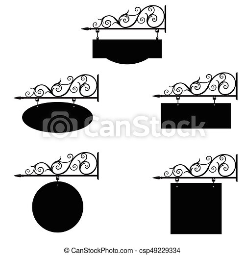 Hotel Sign Vector Illustration Set Collection Of