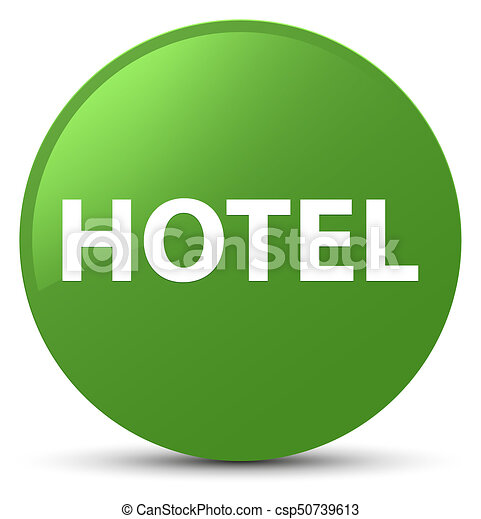 Hotel soft green round button - csp50739613