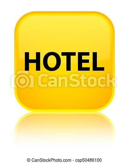 Hotel special yellow square button - csp50486100