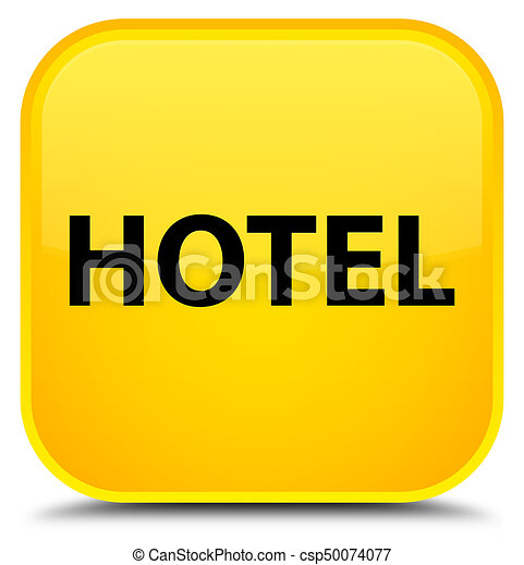 Hotel special yellow square button - csp50074077