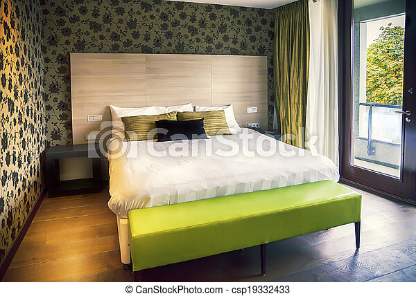 hotell, nymodig rum - csp19332433