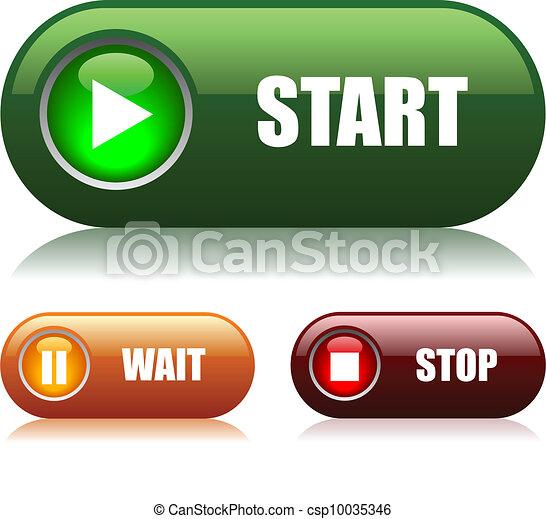 hotelový poslíček, start, clona - csp10035346