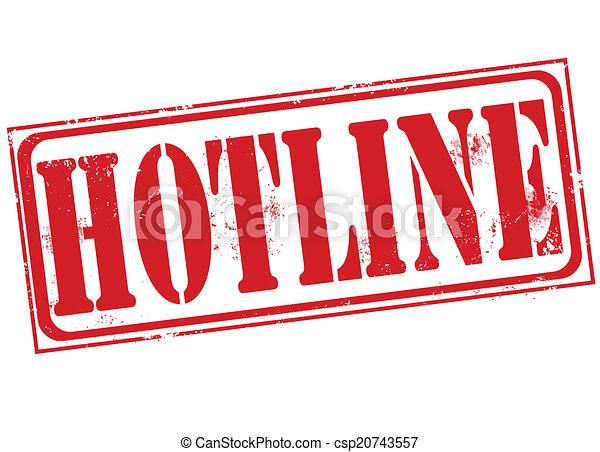 hotline stamp hotline grunge stampw ith on vector illustration