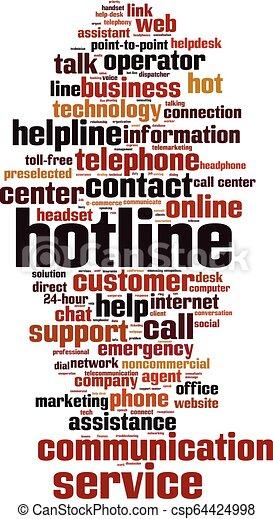 Hotline word cloud - csp64424998