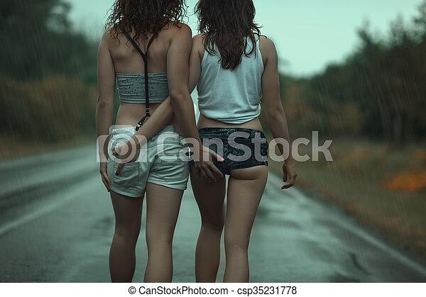 lesbische Lovers Fotosjonge mannelijke Gay Sex