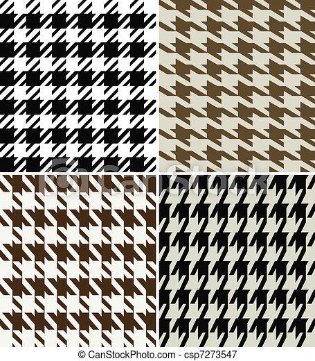 houndstooth fabric design - csp7273547