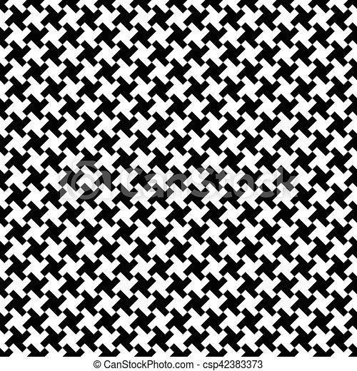 Houndstooth fabric pattern, vector seamless pattern