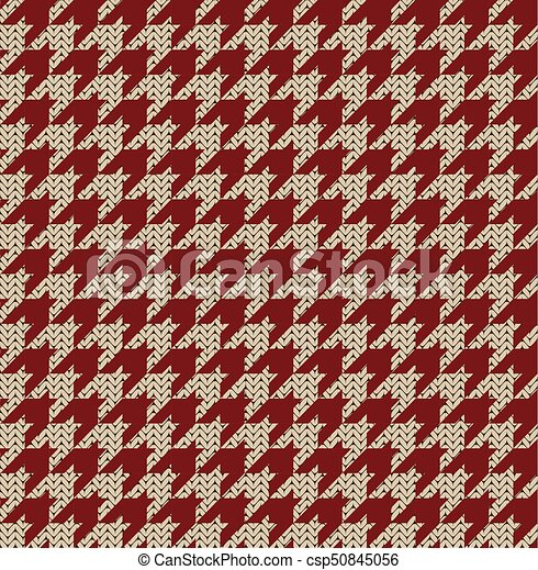 Houndstooth Knitted Pattern Seamless Knitted Houndstooth Pattern