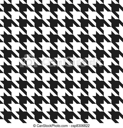 Houndstooth Pattern_Black-White - csp8306822