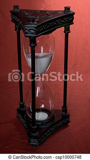 hour glass sand timer sands through the hour glass timer