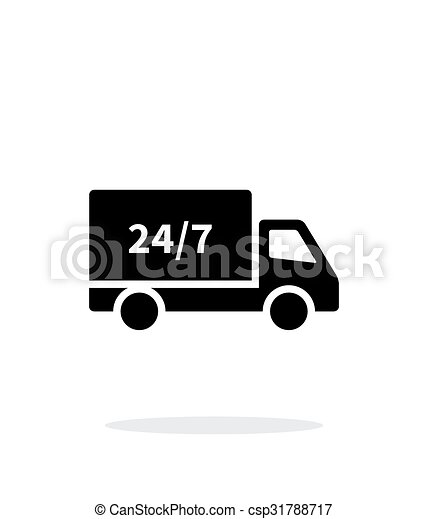 Hour shipping simple icon on white background. - csp31788717