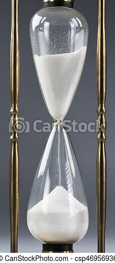 Hourglass of time. - csp46956936