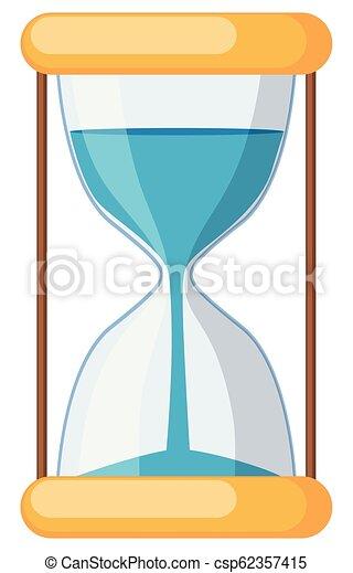 hourglass on white background - csp62357415