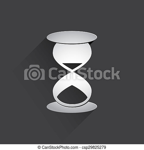 hourglass web flat icon. - csp29825279