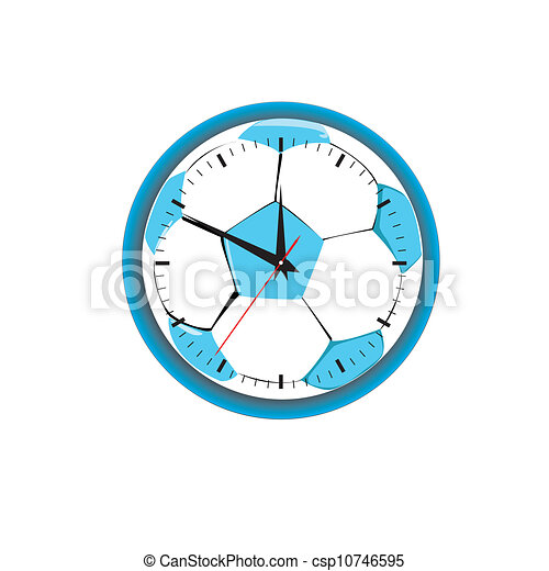hours in the form of a football. Vector illustration - csp10746595