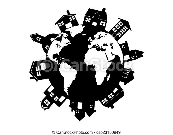 homes around the world clipart. house around the world csp23150949 homes clipart p