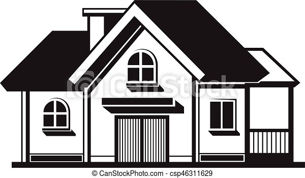 6e26771fa89a House black icon. Black house front icon, on white background ...