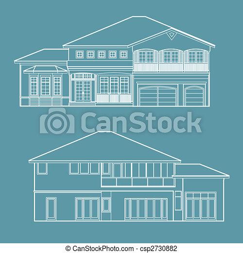 House blueprint illustration house blueprint csp2730882 malvernweather Images