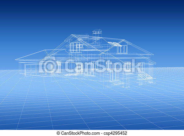 House blueprint - csp4295452