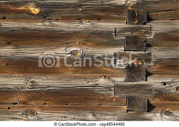 house., bois, vieux, journaux bord, texture - csp48544495