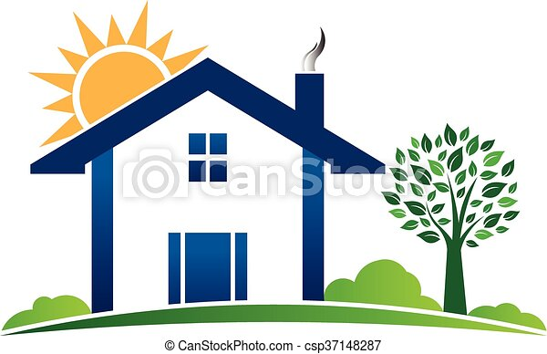 Line Drawing Vector Graphics : House cabin resort logo. vector graphic illustration search