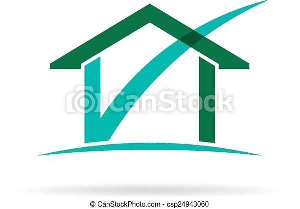 House Check Logo - csp24943060