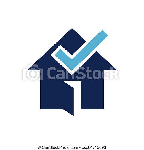 House check logo design - csp64715693