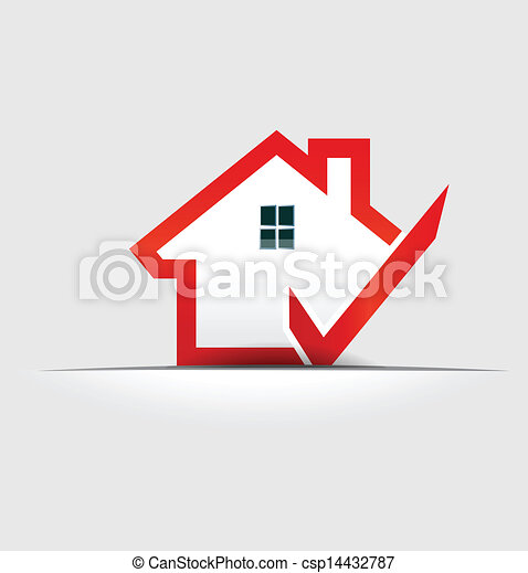 House check logo design element - csp14432787