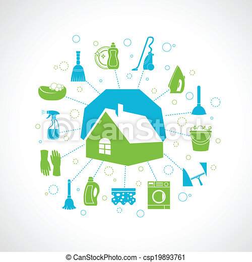 House cleaning concept - csp19893761