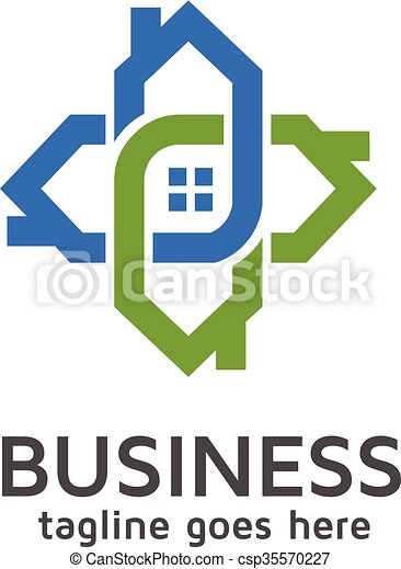 house connected logo - csp35570227